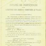 Diploma de incetatenire - Act eliberat in 1912, ca urmare a legii din 1909 pentru acordarea drepturilor politice locuitorilor din judetele Constanta si Tulcea, lege care a constituit ultimul pas in formalitatile de integrare a Dobrogei in statul roman.